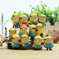 Wholesale Minions Plush Dolls - Despicable Me 2 Minions in Action Figures Minions Toys Doll New cheap Toy Set 12PCS Set Retail Lovely Plush Toys Girls Gifts.