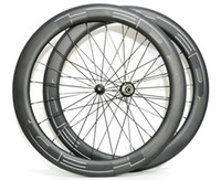 Wholesale Carbon Road Bikes Wheelset - Free shipping HED 60mm depth 25mm width wheel full carbon road bike wheelset light weight with powerway R36 hubs 700C Clincher Wheelset