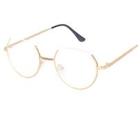 Wholesale Rimless Prescription Glasses - Alloy Glasses Frame Semi-Rimless on Top Rim Eyeglasses for Men and Women Optical Eyeglasses Prescription Spectacles A121