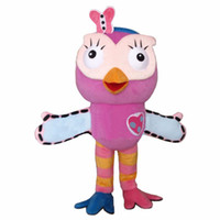Wholesale owl fancy costume for sale - Hot sale Pink Owl Mascot Costume adult Fancy Dress Character mascot costume