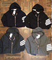 ingrosso tuta da new york-Hot Spring T-shirt pullover TB New York marchio maglione cardigan a righe Tuta thom b rowne maglione Taglia M ~ 2XL
