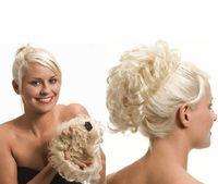 Wholesale Blonde Buns - XT064Brown Blonde Chignon Hairpiece Fake Hair Bun with Clips Toupee Coque De Cabelo Postiches Pour Chignons Cheveux Femmes Factory Sal