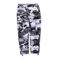 streetwear farben groihandel-Camouflage Herren Cargo Pants Ganzkörperansicht 2017 Frühling Multy Camo Hip Hop Hosen Männer Frauen Streetwear Tourers Männer 8 Farben