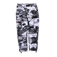 Wholesale Blue Gray Camo Pants - Camouflage Men's Cargo Pants Full Length 2017 Spring Multy Camo Hip Hop Pants Men Women Streetwear Toursers Men 8 Colors
