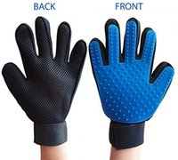 Wholesale Right Hand Glove - 1 Pcs Pet Grooming Gloves Right Hand with Adjustable strap Pet Massaging Combing Bath Brush Hair Remover Tool
