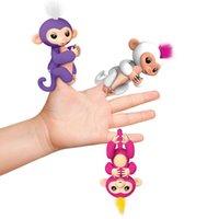 Wholesale Stuffed Monkey Wholesale - Pre-sale Fingerlings Interactive Baby Monkey Finger Toys Monkey Electronic Smart Touch Fingers Monkey Toy ABS+PVC Halloween 3003203