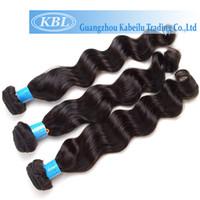 Wholesale 4a Human Hair Weave - Wholesale-KBL 4A Brazilian Water Wave Virgin Hair Bundle Deals 3 Pcs lot Cheap 100 Human Hair Brazilian Loose Wave Virgin Hair Extensions