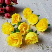 Wholesale Artificial Hot Pink Roses Wholesale - Wholesale 2016 New Hot Sale 500pcs Rose Artificial Silk Flower Heads Wedding decoration Craft optional color