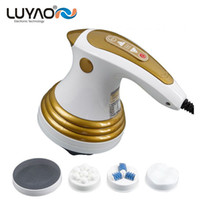Wholesale infrared vibration massager - LUYAO Beauty Care Anti Cellulite Full Body Slimming Shaper Infrared Massager loss weight fat burner massage vibration machine (Color:Gold)