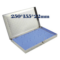 Wholesale equipment sterilization box Medium instrument disinfection box with stainless steel orifice silica gel pad