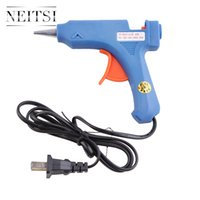 Neitsi 1Pcs USA Plug 20W Blue Glue Gun +12 Pcs Keratin Glue Sticks Professional Hair Extensions Outils pour extensions de cheveux ApplyCraft Repair