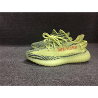 Wholesale Cheap Wholesale Women Shoes - Kanye West 2017 New Boost 350 V2 Fluorescent Green Zebra Semi Frozen Yellow Blue Tint Running Shoes Wholesale Cheap Discount Sports Sneakers