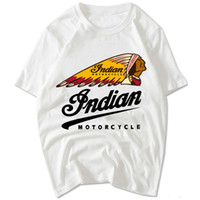 Wholesale Motorcycle Short Sleeve - Indian Motorcycle T shirt Cycle race short sleeve gown Sport street tees Leisure unisex clothing Quality cotton Tshirt