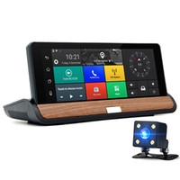 Wholesale car android navigator bluetooth resale online - XINMY Inch G Bluetooth Wifi Android Car DVR GPS Navigation HD P Dual Lens Rearview Camera GB Free Navigation Maps
