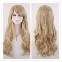 bilder lange haarperücken großhandel-100% neue hochwertige Mode Bild volle Spitzeperücken Frauen lange SFashion Natural Hair Wave Blonde Perücken Cosplay Partei Kostüm Perücken
