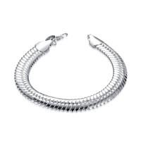 короткие манжеты оптовых-Мужская мода кубинский звено цепи браслет мужская мода нержавеющей стали коренастый змея цепи браслет манжеты браслет 7.87 дюймов