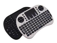 ingrosso i8 mouse d'aria-Mini tastiera wireless Rii i8 2.4GHz Air Mouse tastiera telecomando Touchpad per Android Box TV 3D gioco Tablet Pc
