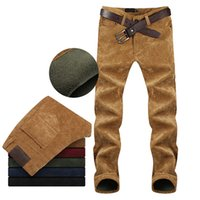 Wholesale Regular Taxi - Wholesale-Korean Slim small straight casual pants male taxi thick velvet corduroy trousers Cargo Pants 8841 P65