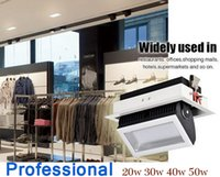 Wholesale lvd clothes for sale - Group buy 20W W W W LED Commercial High end Modern Styp Dress Shop Light Easy Adjustable Clothing Store Recessed Downlight
