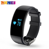 Wholesale Skmei White Silicone - SKMEI Brand New Smartband Touch Screen Waterproof Heart Rate Monitor Wristband Fitness Tracker Bracelet for IOS Android D21