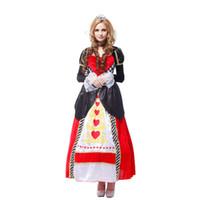 ingrosso costumi dei cuori della regina-Storia di Shanghai Red Queen costumi principessa, donne nobili costumi cosplay regina, regina di cuori costume di halloween per le donne 155-165 cm
