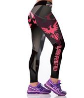 Wholesale Punk Gothic Leggings - Wholesale- Gothic Punk Fitness Leggings Ropa Deportiva Mujer Gymnastics Fitness Legging Para Academia Mulheres 3D Parts Dark Spandex Leggin