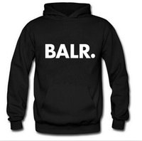 Wholesale Popping Hip - Men BALR Printed Fleece Hoodies Spring Autumn Winter Long Sleeved Hooded Tops Casual Hip Pop Pullover Punk Mens Sportswear Sweatshirt