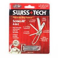 Wholesale Swiss Tech Tools Wholesale - Wholesale-Swiss+Tech Screwz-All 4-in-1 Steel Keychain Tool mini multitool keyring screwdriver survival knife