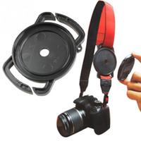 tampas de lente 67mm venda por atacado-Atacado-2016 Camera Lens Cap goleiro 52mm 58mm 67mm Universal Anti-perder fivela titular Keeper