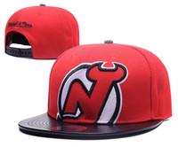 Wholesale Snapback Ness - 2017 New Hot Sale michell & ness New Jersey Devils Snapback Men's Hats Embroider Team Logo Sports Adjustable Ice Hockey Caps Hip Hop Hat