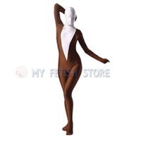 ingrosso feticcio stretto vestito-(LS941) Shiny Lycra Spandex Collant Unisex originale Body Fetish Zentai Adatta a Halloween Fancy Dress Costume