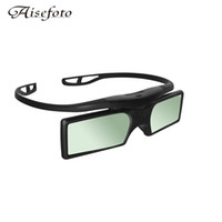 Wholesale Epson 3d Glasses Bluetooth - G15-BT Bluetooth 3D Shutter Active TV Glasses 3D Glasses For Epson Samsung SONY SHARP Bluetooth 3D TV Projector TV Free Shipping