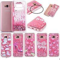 Wholesale cartoon samsung cases online – custom For Samsung S8 Glitter Liquid Case Transprent Soft TPU Flamingo Cartoon Horse Quicksand Case For Samsung S8 S8 plus S7 S7 edge
