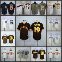 Men padres throwback jerseys - San Diego Padres SD Tony Gwynn white blue Coffee Turn Back The Clock Stitched throwback Jersey pullover Baseball Jerseys