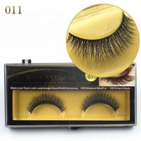 Wholesale Blink Lashes - 100%Natural Minkfur Hand made Long False Eyelash Brand Fashion Lash Blink Black Full Strip Fake Lashes MINK EyELAES Makeup Tool 2 Pairs lot
