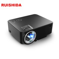 Wholesale M1 Hdmi - Wholesale- 2016 Newest Original RuiShiDa M1+ Wireless Projector Wifi Android HomeTheater Multimedia Video