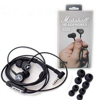Wholesale Cell Phone Ear Buds - Marshall MODE headphones in ear headset black earphones with mic HiFi ear buds headphones universal for mobile phones