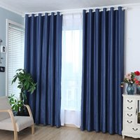 Wholesale Grommet Blackout Curtains - Solid Grommet Window Curtain Foam Lined blackout thermal treatment home decoration modern curtain