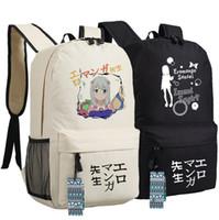 Wholesale Bags Teachers - Eromanga sensei backpack Izumi Sagiri daypack Sister teacher Tomoe Takasago schoolbag Anime rucksack Sport school bag Outdoor day pack