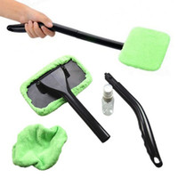 Wholesale window cleaner wiper resale online - Car Microfiber Windshield Cleaner Auto Vehicle Washing Towel Brush Window Glass Wiper Dust Remover for Car Home