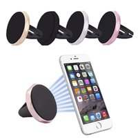 Wholesale Galaxy S3 Air Vent Holder - Hot Magnalium Cell Phone Holders with Easier Safer Driving Magnets Bracket Air Vent Magnetic Car Mount for Samsung Galaxy S3 S4 S5 S6 CZ02