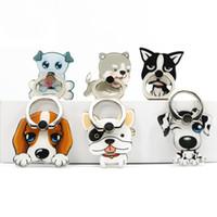 подставка для iphone оптовых-Универсальный 360 Градусов Pet Dog Pattern Палец Кольцо Держатель Телефона Подставка Для iPhone Samsung Huawei Мобильных Телефонов