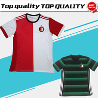 Wholesale Soccer Jerseys Uniforms Football - Feyenoord home red white Soccer Jersey 17 18 Feyenoord away Soccer Shirt 2018 Customized football Uniform Sales