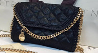 Wholesale Over Sized Shoulder Bags - Free DHL Falabela Mccartney Women's quilted Clutch STELLA ladies mini fold over shoulder chain bag Size : W23*H17*D6.5cm