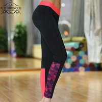 Wholesale Cheap Trousers For Women - Wholesale- Sporting Leggings Women Fashion Cheap Clothes For Fitness Clothing For Women Calzas Mujer Workout Pants Patchwork Trousers