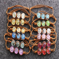Wholesale Traditional Wedding Jewelry Sets Designs - 2017 Fashion Vintage Charm Bracelets For Girl Gift Wholesale Shaped Flower Design Bracelet Dried flower Hand-woven Fashion For women Jewelry