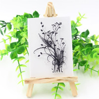 Wholesale Scrapbooking Card Making Supplies - Wholesale- 1 Sheet Transparent Clear Silicone Stamps for DIY Scrapbooking Card Making Kids Fun Decoration Supplies Grass
