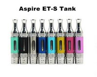 Wholesale Drip Tip T2 - Top Quality ETS Clearomizer 3ML with Glass Tube Metal Drip Tip Aspire ET S BDC BVC Replacement Coils for eVod Vision Spinner 2 vs T3S T2 K1