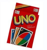 Wholesale Popular Poker - Popular UNO Poker Card Board Games 5.6*8.8cm Coated Paper Lesure Gifts Item in stock Free Shipping