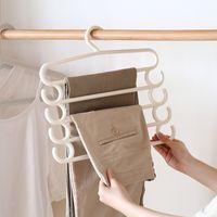 Wholesale Swing Hangers - 2 pcs multi-layer wardrobe trousers hanger, multi-functional sorting hanger Plastic Swing-Arm Trouser Wire Hanger,door hanger